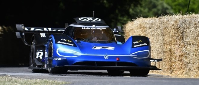 An electric Volkswagen sportscar at the Goodwood Festival of Speed.