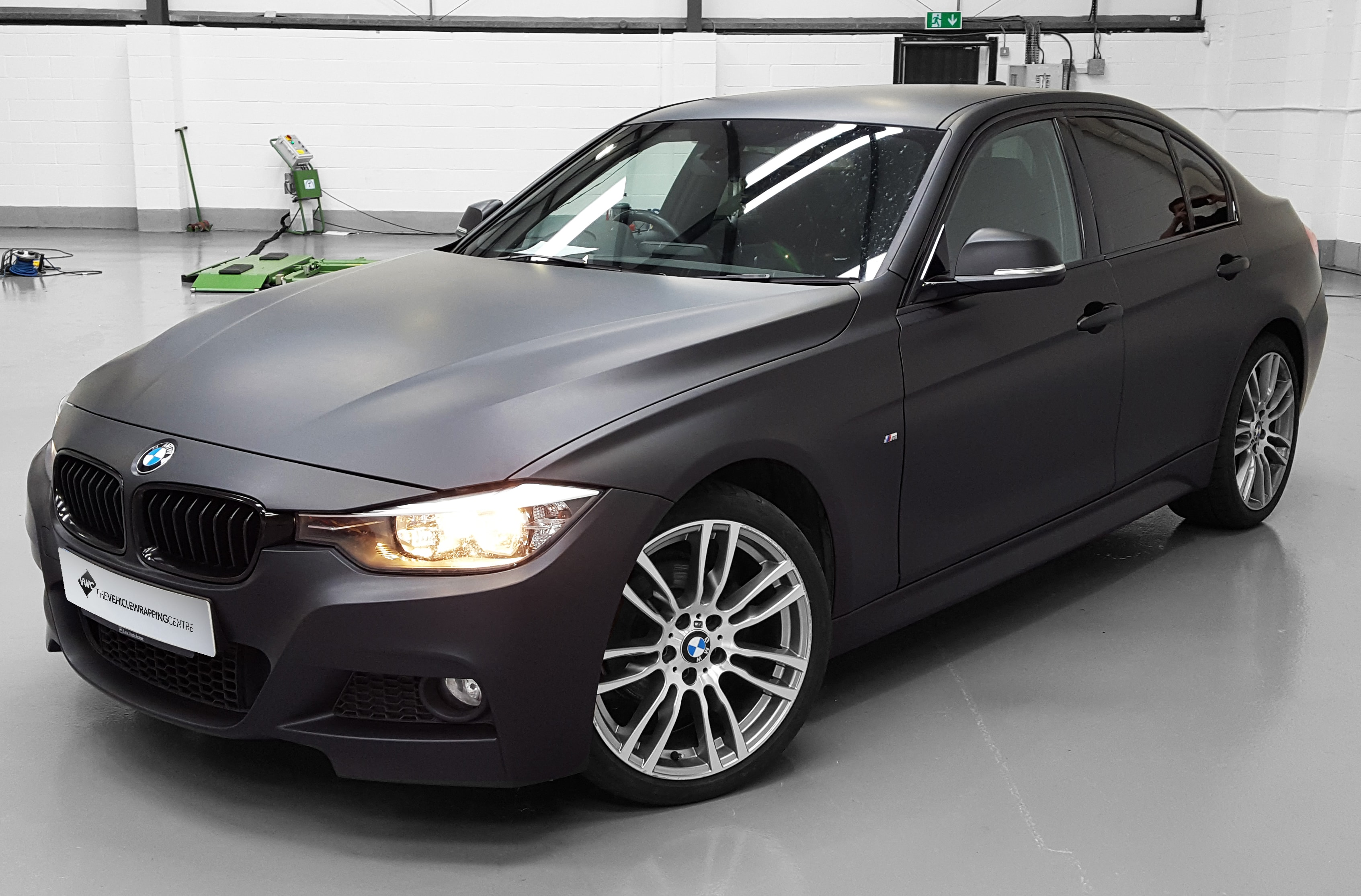 bmw 3 series 3m matte black personal vehicle wrap project. Black Bedroom Furniture Sets. Home Design Ideas
