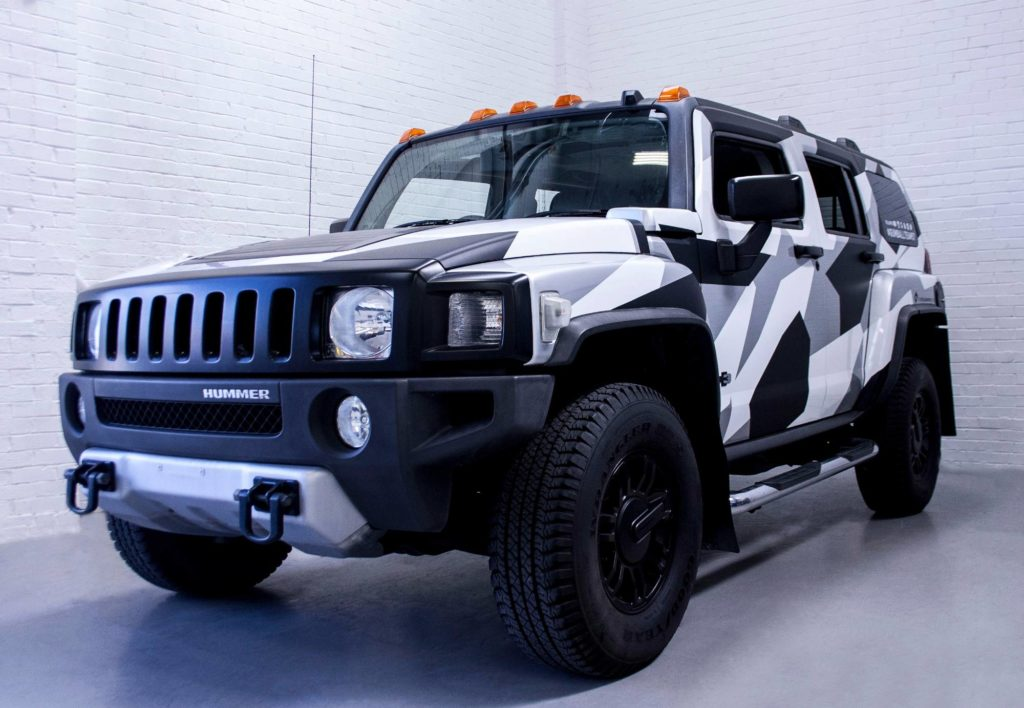 hummer h3 gumball camo wrap personal vehicle wrap project. Black Bedroom Furniture Sets. Home Design Ideas