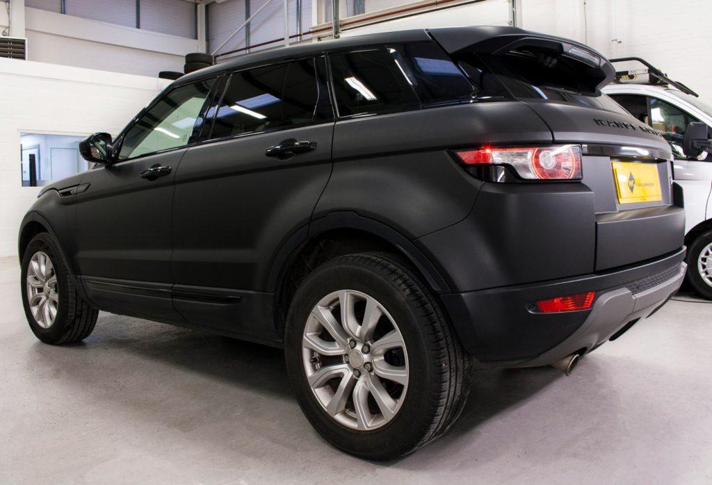 Range Rover Evoque - 3M Matte Black Personal Vehicle Wrap ...