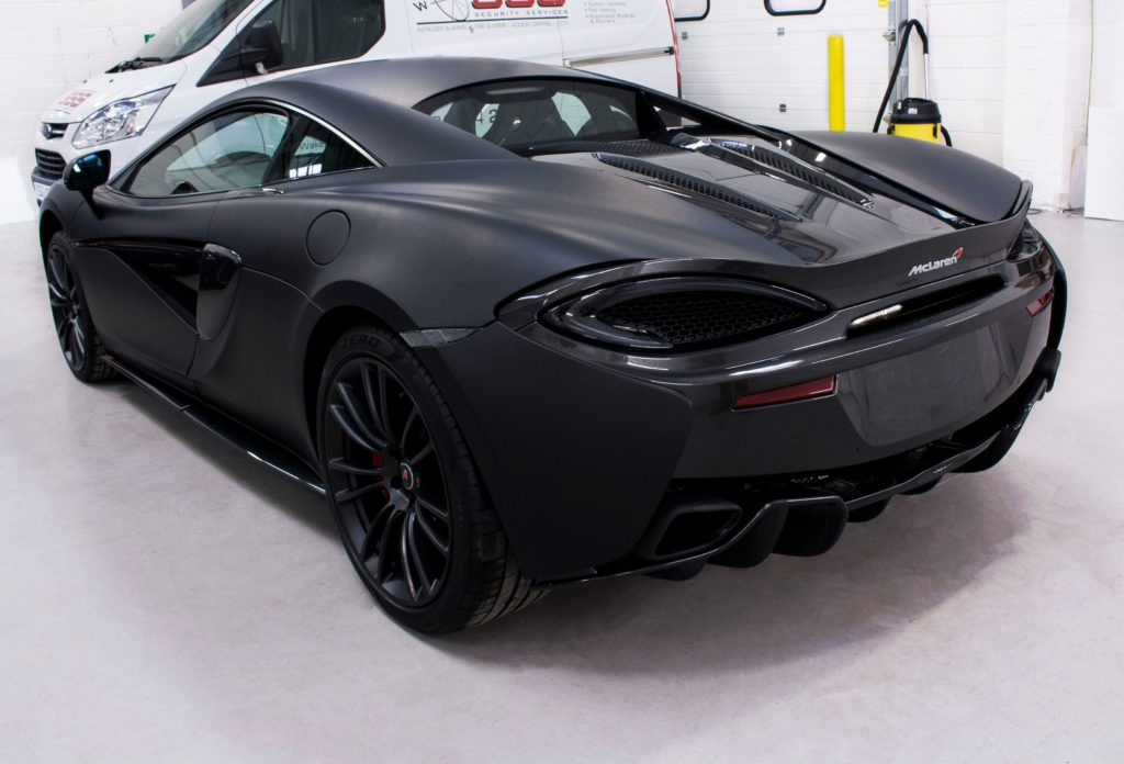 Mclaren 570s 3m Deep Matte Black Personal Vehicle Wrap