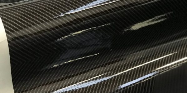 Roof of Porsche Spyder in carbon fibre gloss